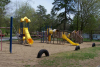 Playground with yellow slides
