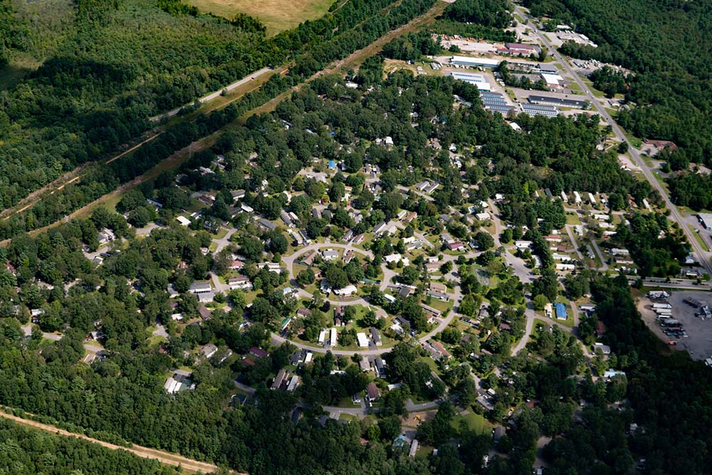 aerial view of Lamplighter acreas