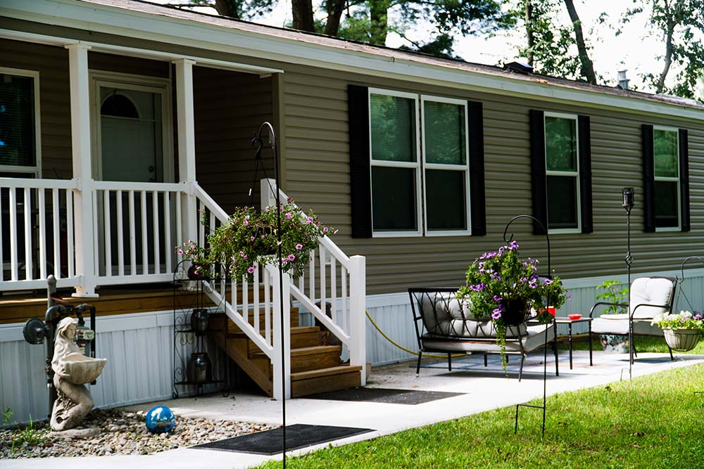 Manufactured Home with patio